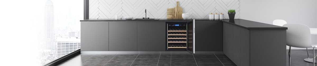 Vinkøleskab til indbygning under køkkenbordplade. Se alle vinskabe til indbygning.