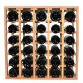Square Vinreol ALDA i fyrretræ til 30 flasker