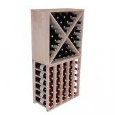 Square Vinreol ABRA i massiv EGETRÆ til 40 flasker
