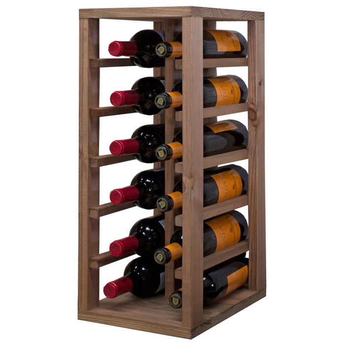Aleta f r 12 flaskor i ek - Estanterias para botellas ...