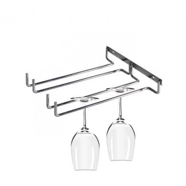 Wine glass Hanger - Dual row - Wall