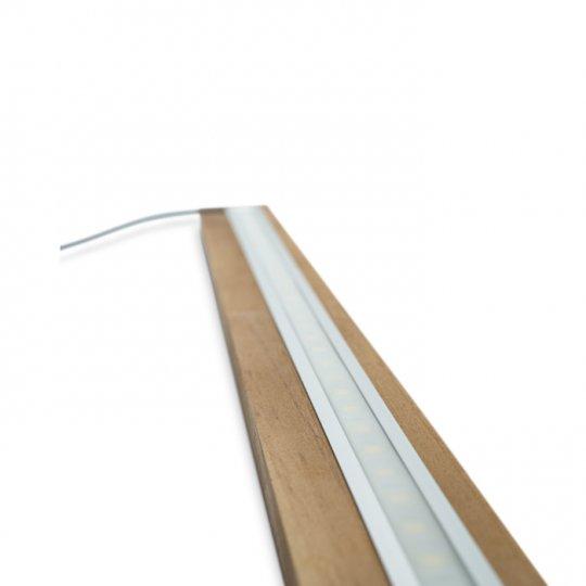 LED Lysliste til 3 moduler pŒ 204 cm, komplet sæt i EGETRÆ