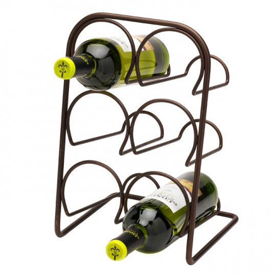 Hahn Pisa vinholder til 6 flasker i antik bronze
