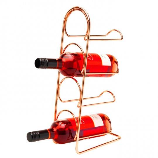Hahn Pisa vinholder til 4 flasker kobber