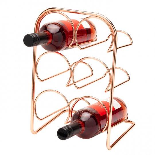 Hahn Pisa vinholder til 6 flasker kobber