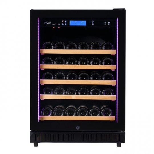 Pevino 46 flasker 1 zone sort glasfront