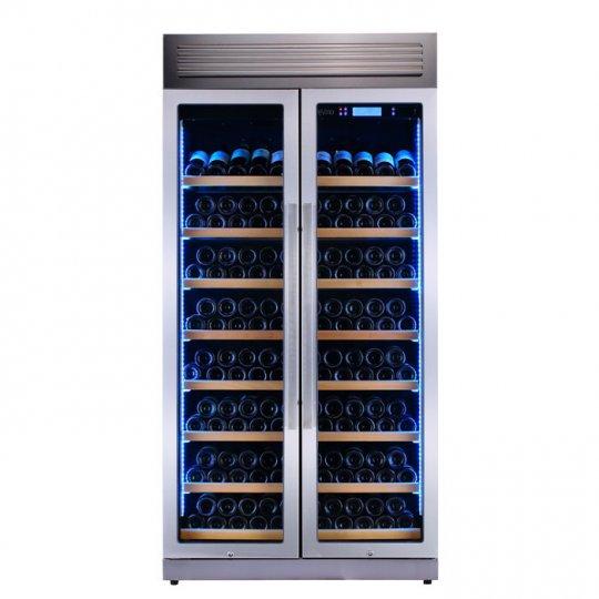 Pevino Pro 280 flasker - 2 zoner - Rustfri stål