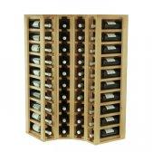 WINEREX Vinreol DIA hjørne til 40 flasker i HVID