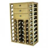 WINEREX vinreol DINORA til 44 flasker + 3 skuffer i toppen i HVID