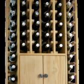 WINEREX vinreol ESMA til 44 flasker + skab i bunden i HVID