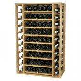 WINEREX vinreol FAUSTA til 65 flasker - udtrækbar hylder i HVID