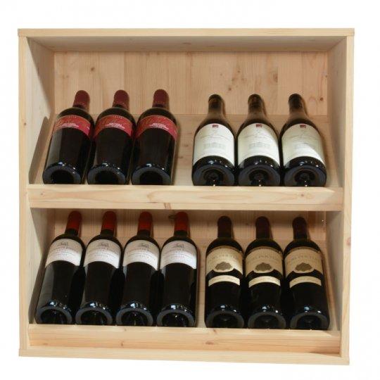 Square Vinreol ANDINO DISPLAY i fyrretræ til 14 flasker