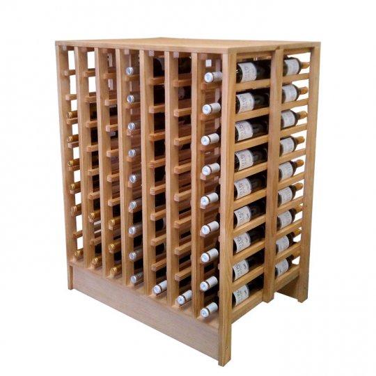 WINEREX Vinreol JULIANO til 126 flasker i EGETRÆ