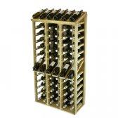WINEREX Vinreol FEO med display til 72 flasker i EGETRÆ