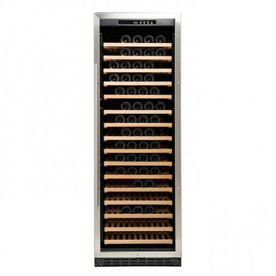 vinkøleskab Vinobox 168-180 flasker 1 kølezone, rustfri stål og sorte sider NY MODEL