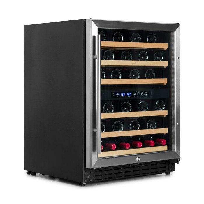 Vinskab Vinobox 50 flasker 2 zoner, indbygning/fritstående NY MODEL