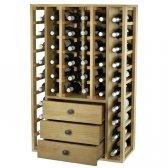 WINEREX vinreol DITA til 44 flasker + 3 skuffer i bunden