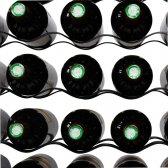 Vinreol FINA sort metal til 48 flasker