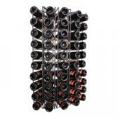 Hjørnevinreol SESTO sort metal til 50 flasker