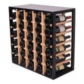 Square Vinreol FABIA i massiv EGETRÆ og sort til 30 flasker