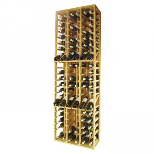 WINEREX Vinreol FLOR med display til 108 flasker i HVID