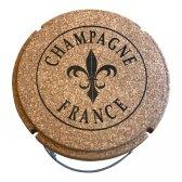 Champagneprop bord/stol i kork og metal