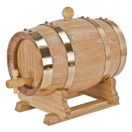 5 liter vinfad fransk eg messing tøndebånd