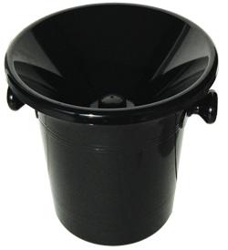 Diverse Spyttespann med lokk, plast, svart