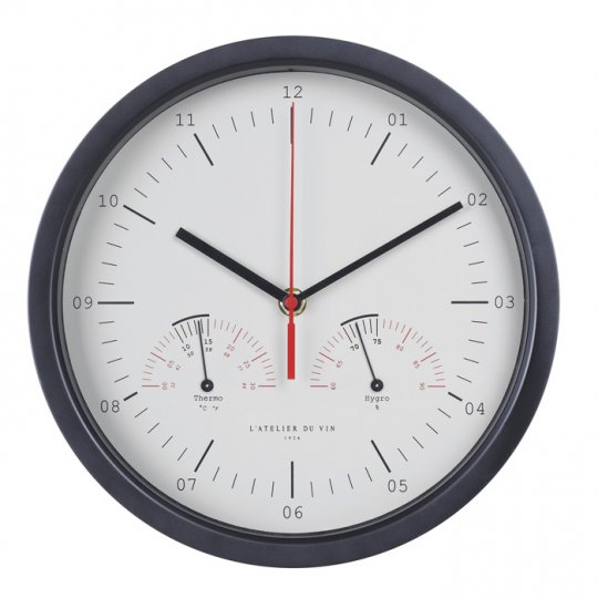 Ur med hygro- og termometer