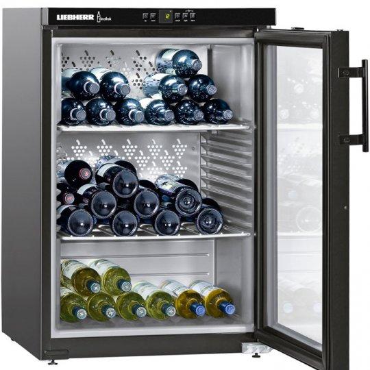 LiebHerr Vinothek vinkøleskab 66 flasker sort fritstående