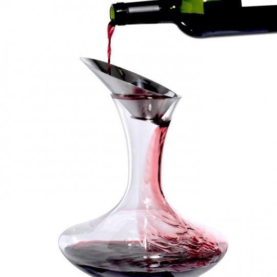 Dekanteringstragt til iltning af vin