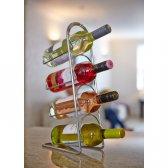 Hahn Pisa vinholder til 4 flasker krom