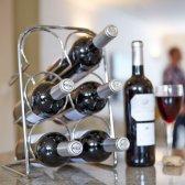 Hahn Pisa vinholder til 6 flasker krom