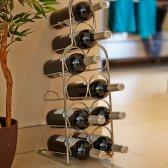 Hahn Pisa vinreol til 10 flasker krom