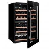 Avintage Climadiff sort integrerbart vinkøleskab 55 flasker, 2 zoner