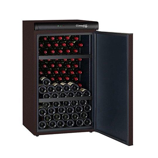 Climadiff vinkøleskab, solid dør, 120 flasker, 1 kølezone