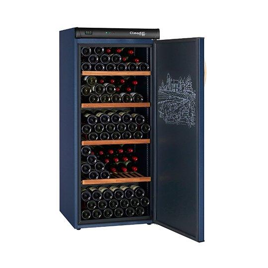 Climadiff vinkøleskab, solid dør, 180 flasker, 1 kølezone