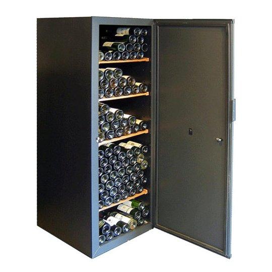 Wincave vinskab 246 flasker med 1 kølezone, solid dør