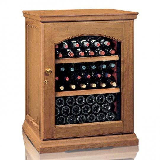vinkøleskab i Massiv EGETRÆ 50 flasker, 1 kølezone