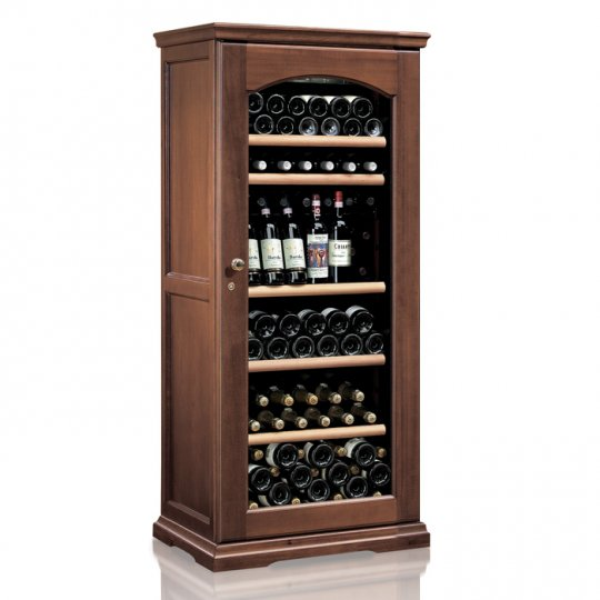vinkøleskab i Massiv Valnøddetræ 112 flasker, 1 kølezone