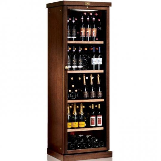 vinkøleskab i Massiv Valnøddetræ 138 flasker, 1 kølezone