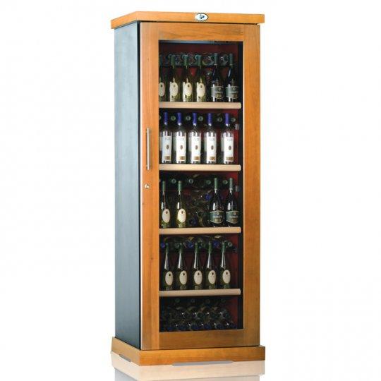 vinkøleskab i Massiv Bøgetræ/Antracit 138 flasker, 1 kølezone, 2-farvet
