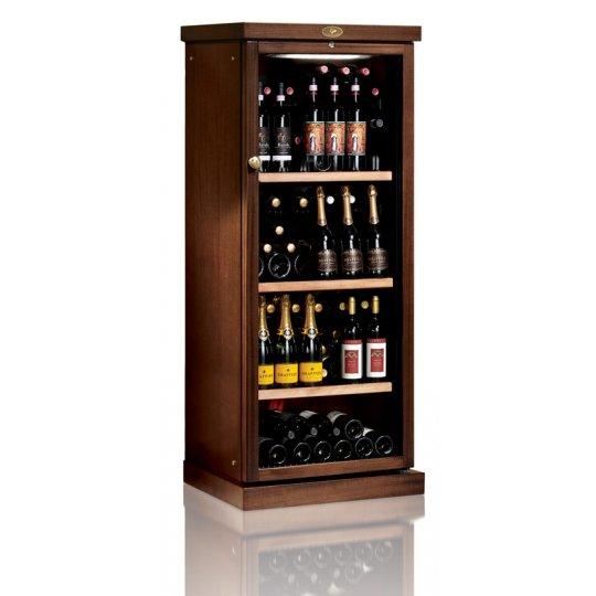 vinkøleskab i Massiv Valnøddetræ 116 flasker, 1 kølezone
