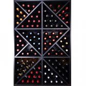 RENATO Vinreol rack JAX 6 moduler til 124 flasker