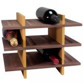 Petit Vinreol 12 flasker (3 hylder) - Rødbrun/Beige