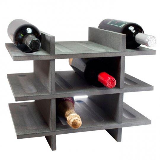 Petit Vinreol 12 flasker (3 hylder) - Sort