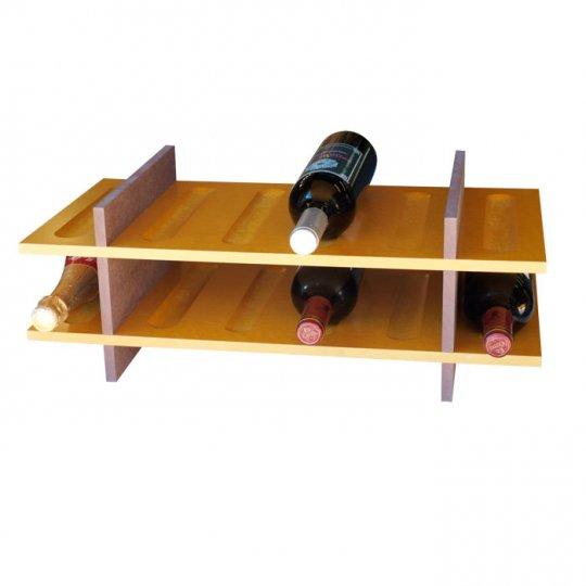 Petit Vinreol 12 flasker (2 hylder) - Lys brun/Rødbrun