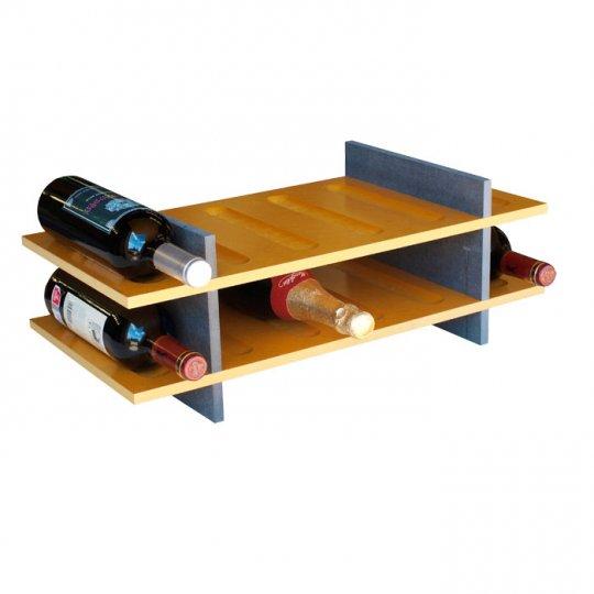 Petit Vinreol 12 flasker (2 hylder) - Lys brun/grŒ