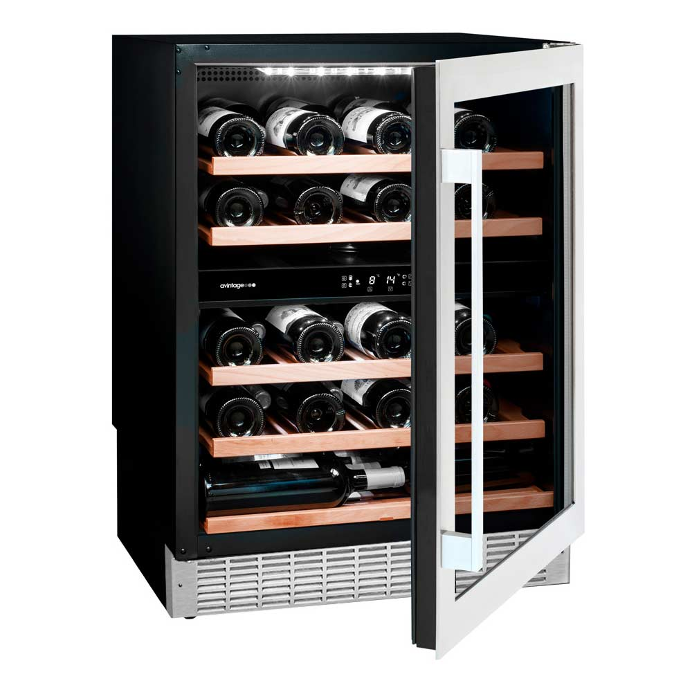 avintage avu54sxdza 50 bottles dual zone stainless steel. Black Bedroom Furniture Sets. Home Design Ideas