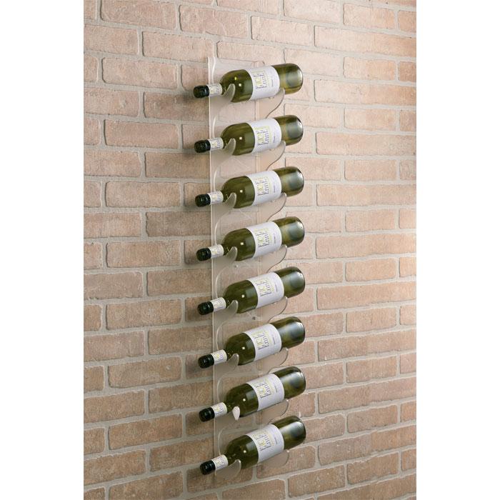 Belluno 8 Bottles Acrylic Wall Mounted Rack